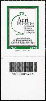 Italia 2012 - Associazione di Fondazioni e di Casse di Risparmio - codice a barre n° 1463