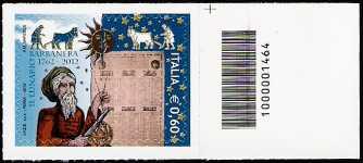 Italia 2012 - Lunario Barbanera di Foligno - codice a barre n° 1464