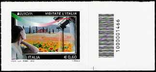 Italia 2012 - Europa - 57ª serie - Visitate l'Italia - valore 0.60 - codice a barre n° 1466