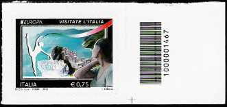 Italia 2012 - Europa - 57ª serie - Visitate l'Italia - valore 0.75 - codice a barre n° 1467