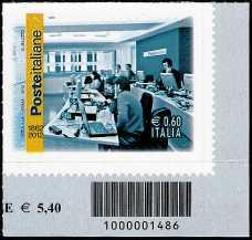 Italia 2012 - 150º anniversario delle poste italiane - codice a barre n° 1486