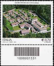Italia 2013 - Sacro Eremo di Camaldoli  - codice a barre n° 1531
