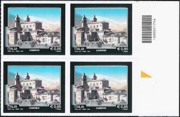 Turistica -  43ª serie emissione : - Camerino ( MC ) - quartina con codice a barre n° 1756