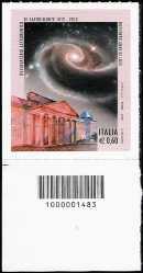 Italia 2012 - 200° Anniversario della fondazione dell'Osservatorio Astronomico di Capodimonte in Napoli  - codice a barre n° 1483