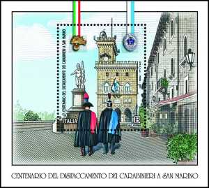 Distaccamento dei Carabinieri a San Marino - Centenario dell'insediamento
