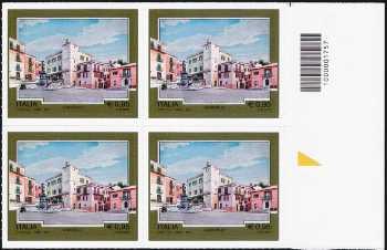 Turistica -  43ª serie emissione : - Carovilli  ( IS ) - quartina con codice a barre n° 1757