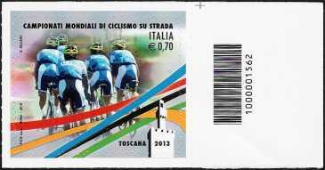 Italia 2013 - Campionati mondiali di ciclismo su strada - codice a barre n° 1562