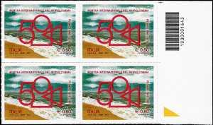 50° Anniversario della fondazione della Mostra internazionale del nuovo cinema di Pesaro - quartina con codice a barre n° 1643