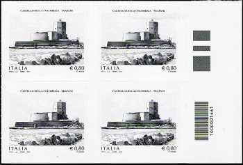 Castello della Colombaia   - Trapani - quartina con codice a barre n° 1661