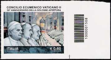 Italia 2012 - Concilio Ecumenico Vaticano II - codice a barre n° 1508