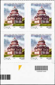 Tempio di Santa Maria della Consolazione - Todi - quartina con codice a barre n° 1662