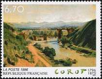 Francia 1996 - Arte - Corot - Il ponte di Narni
