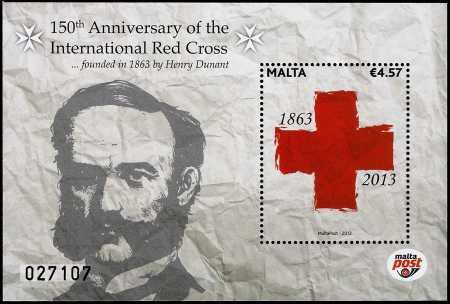 Malta 2013 - 150° Anniversario della fondazione della Croce Rossa Internazionale maltese - foglietto