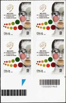 24° Congresso Mondiale di Dermatologia - quartina con codice a barre n° 1943