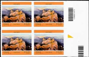 Il patrimonio naturale e paesaggistico : Le Dolomiti - quartina con codice a barre n° 1675