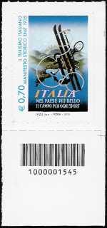 Italia 2013 - Turistica - 40ª serie - Manifesto storico dell' ENIT - codice a barre n° 1545