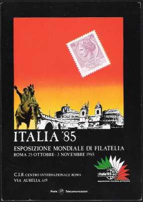 """Esposizione Mondiale di Filatelia """"Italia '85"""" - Roma - Giornata della Stampa Filatelica"""