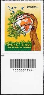 Europa - 0,95 - Ecologia in Europa : Pensa Verde - francobollo con codice a barre n° 1744
