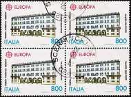 1990 - Europa - Edifici postali di ieri e di oggi - Palazzo delle Poste di Venezia