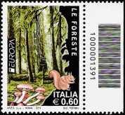 Italia 2011 - Europa - 56ª  serie - Foreste - codice a barre n° 1391