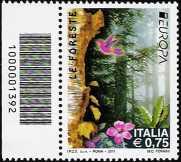 Italia 2011 - Europa - 56ª  serie - Foreste - codice a barre n° 1392