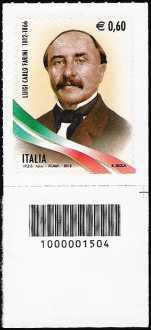 Italia 2012 - 200° Anniversario della nascita di Luigi Carlo Farini  - codice a barre n° 1504