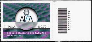 Italia 2013 - «Le Istituzioni» - Agenzia Italiana del Farmaco - codice a barre n° 1539