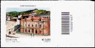 2015 -  Forte di Fenestrelle - Val Chisone - francobollo con codice a barre n° 1657