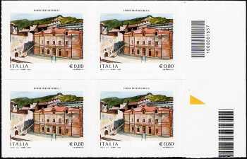 2015 -  Forte di Fenestrelle - Val Chisone - quartina con codice a barre n° 1657
