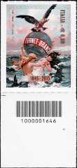 Le eccellenze del sistema produttivo ed economico - Fratelli Branca - 170° anniversario della fondazione - francobollo con codice a barre n° 1646