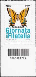 Giornata della filatelia 2016 - francobollo codice a barre n° 1774
