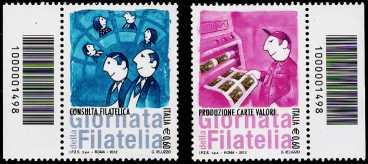 Italia 2012 - Giornata della Filatelia - codice a barre n° 1498