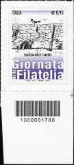 Giornata della filatelia - Filatelia nelle carceri - francobollo con codice a barre n° 1700