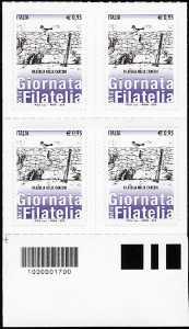 Giornata della filatelia - Filatelia nelle carceri  - quartina con codice a barre n° 1700