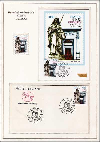 Italia 2000 - Celebrativi del Giubileo Anno 2000 - folder