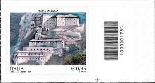 Forte di Bard - francobollo con codice a barre n° 1781