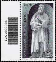 450° Anniversario della nascita di Galileo Galilei - codice a barre n° 1573