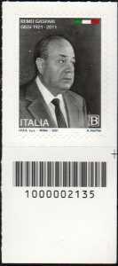 Remo Gaspari - Centenario della nascita - francobollo con codice a barre n° 2135  in BASSO a destra