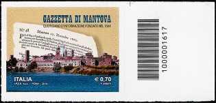 """50° Anniversario della fondazione della """" Gazzetta di Mantova """" - codice a barre n° 1617"""