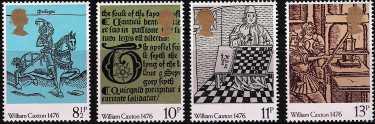500°  Anniversario della stampa del primo libro in Inghilterra ad opera di William Caxton