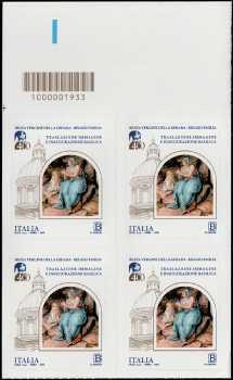 Immagine della Beata Vergine della Ghiara - IV Centenario della traslazione e dell'inaugurazione della Basilica -quartina con codice a barre n° 1933