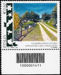 Italia 2011 - Giardino della flora appenninica di Capracotta - codice a barre n° 1411