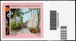 2014 - Parchi, Giardini e Orti Botanici d'Italia : Giardino della Minerva - Salerno - codice a barre n° 1598