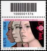 Italia 2011 - Giornata internazionale della donna   - codice a barre n° 1376