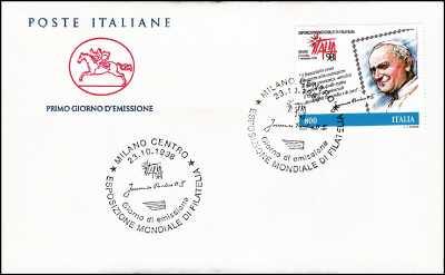 1998 - Esposizione mondiale di Filatelia - Giornata del francobollo - FDC  CAVALLINO - Annullo ufficiale Milano