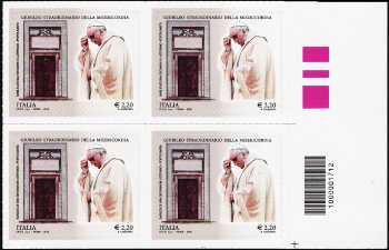 Giubileo straordinario della Misericordia - 2,20  - Roma 8 Dicembre 2015 - quartina con codice a barre n° 1712
