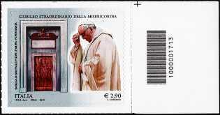 Giubileo straordinario della Misericordia - 2,90  - Roma 8 Dicembre 2015 - francobollo con codice a barre n° 1713