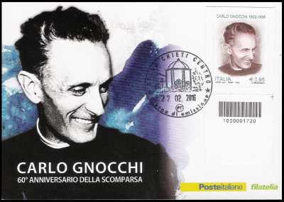 60° Anniversario della morte di don Carlo Gnocchi - codice a barre n° 1720