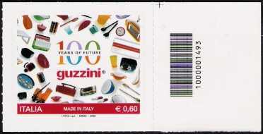 Italia 2012 - Made in Italy -  Guzzini - codice a barre n 1493