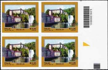 Turistica  44ª serie - Isola del Liri  (FR) - quartina con codice a barre n° 1823